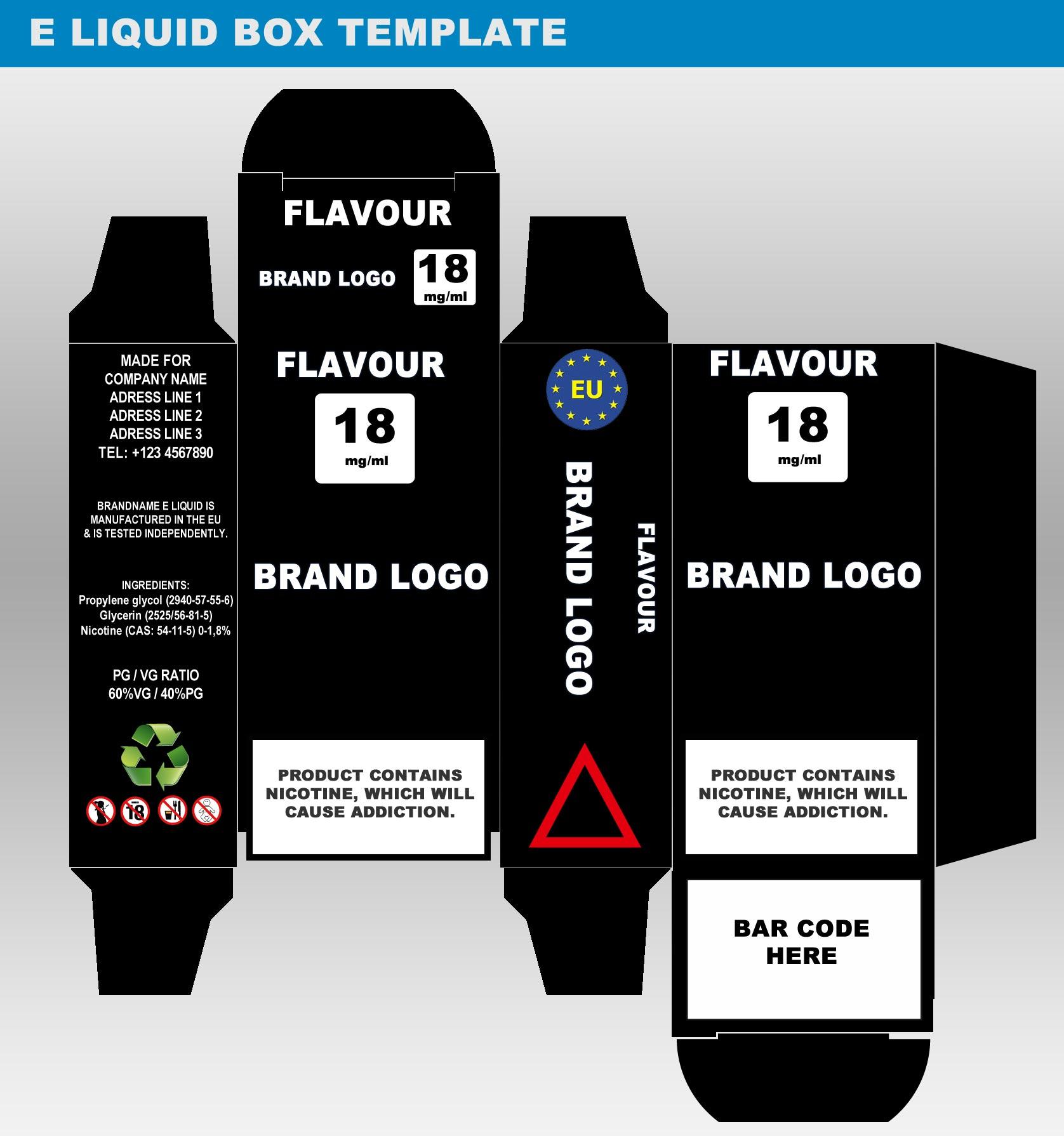 e liquid label template